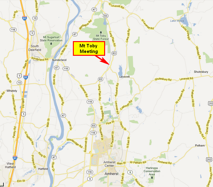 map of Mount Toby location